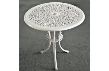 Dış Mekan Nostaljik Döküm Masa Beyaz